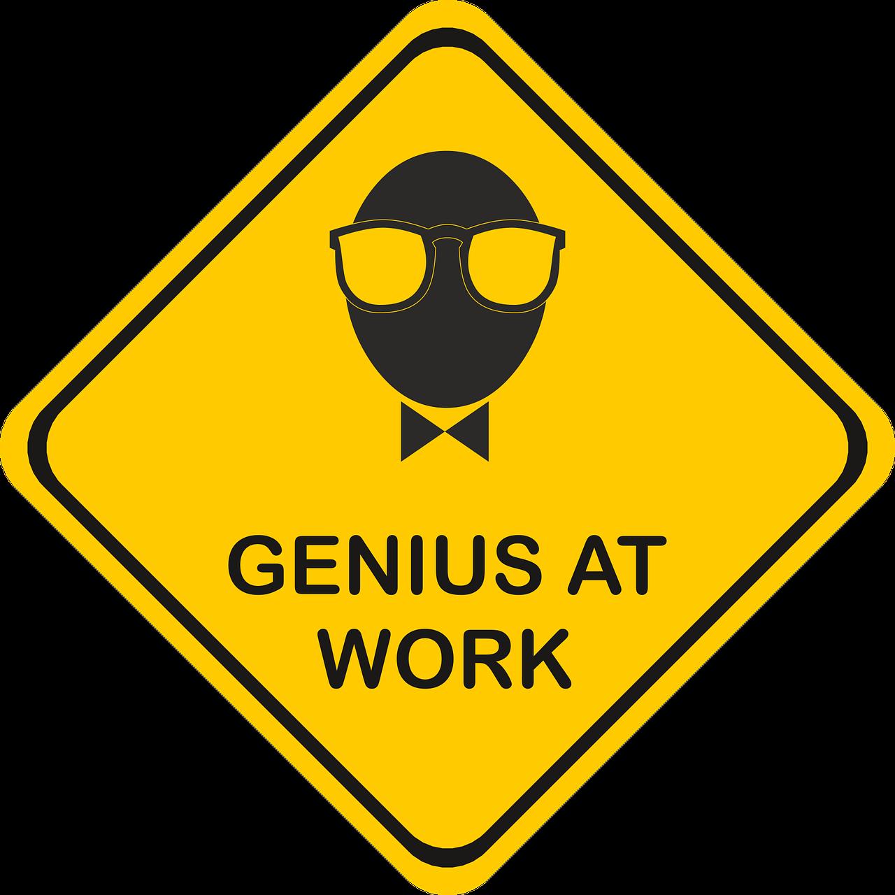 Genius Danger Sign